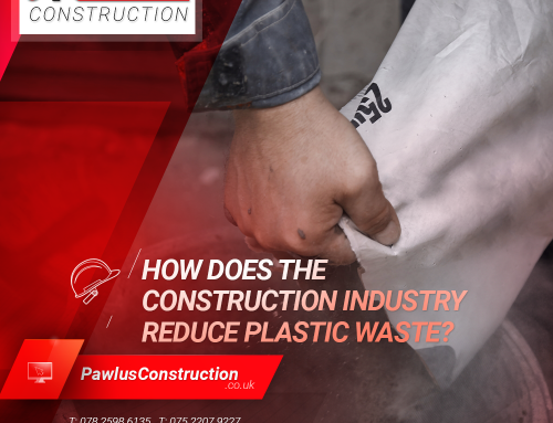How does the construction industry reduce plastic waste?