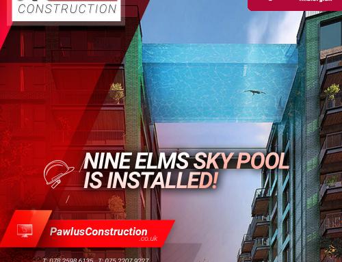 Nine Elms Sky Pool is installed!