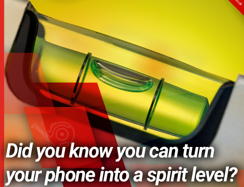 Did you know you can turn your phone into a spirit level?